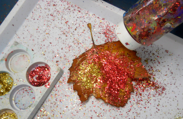 Using Glitter in the classroom is always messy. Glitter Paint eliminates the mess from spreading