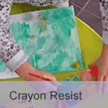Super Dye Crayon Resist project