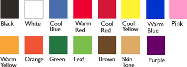 Total Wash Colour Chart