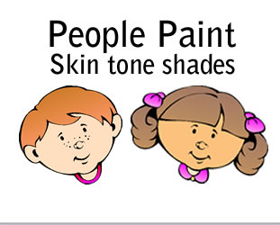FAS People Paint poster paint set of 6