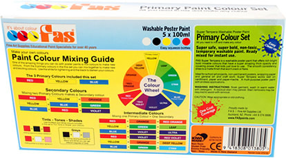 Super Primary Set with colourful Easy to Follow Mixing instructions