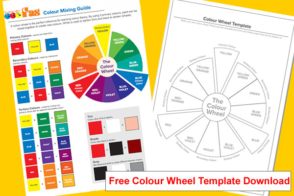 It is an image of Printable Color Wheel Pdf regarding year 7