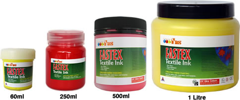 fastex textile ink  jar sizes
